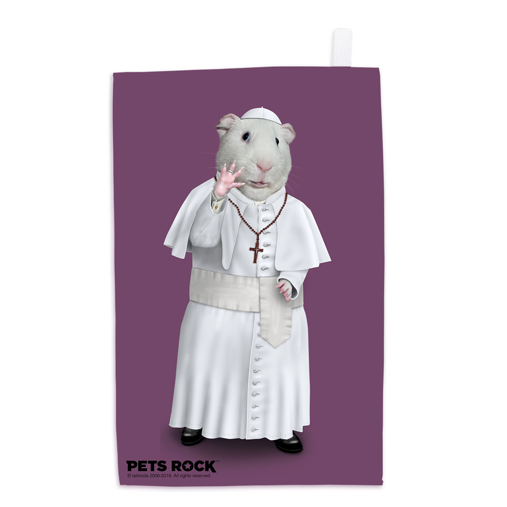 Church Pets Rock Tea Towel