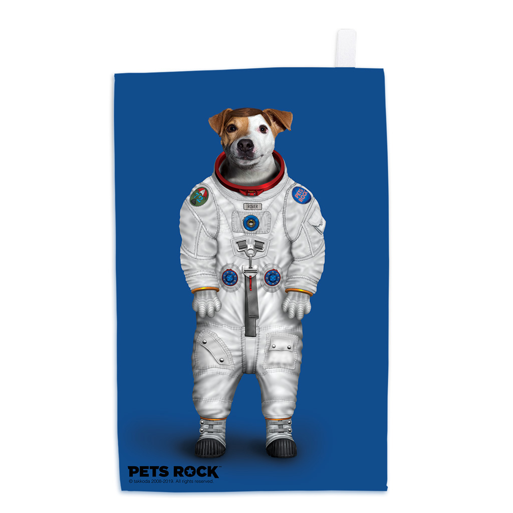Rover Pets Rock Tea Towel