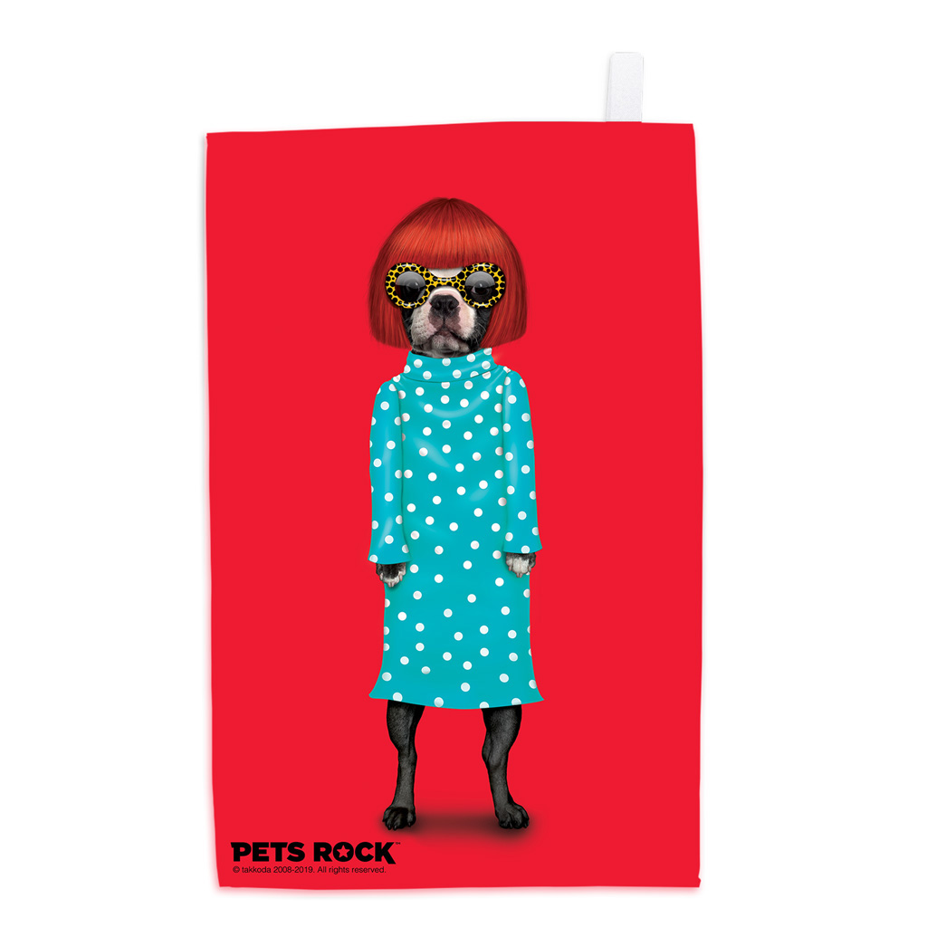 Spots Pets Rock Tea Towel