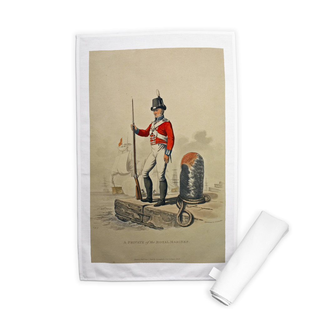A Private of the Royal Marines Tea Towel
