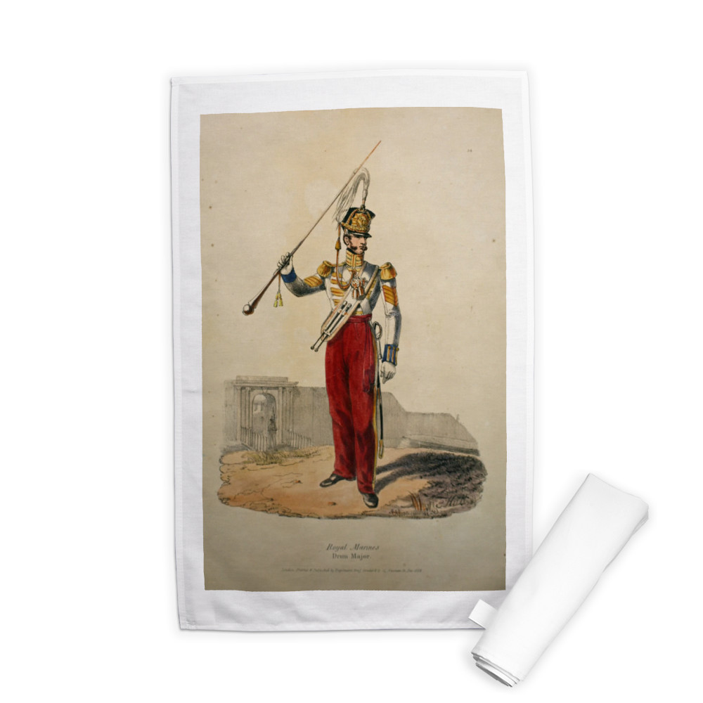 Royal Marines Drum Major Tea Towel