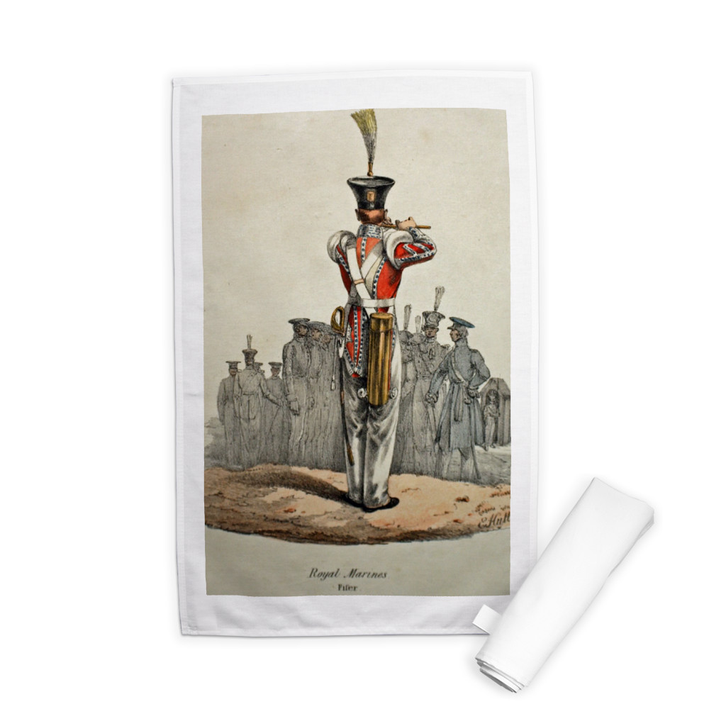Royal Marines Fifer Tea Towel