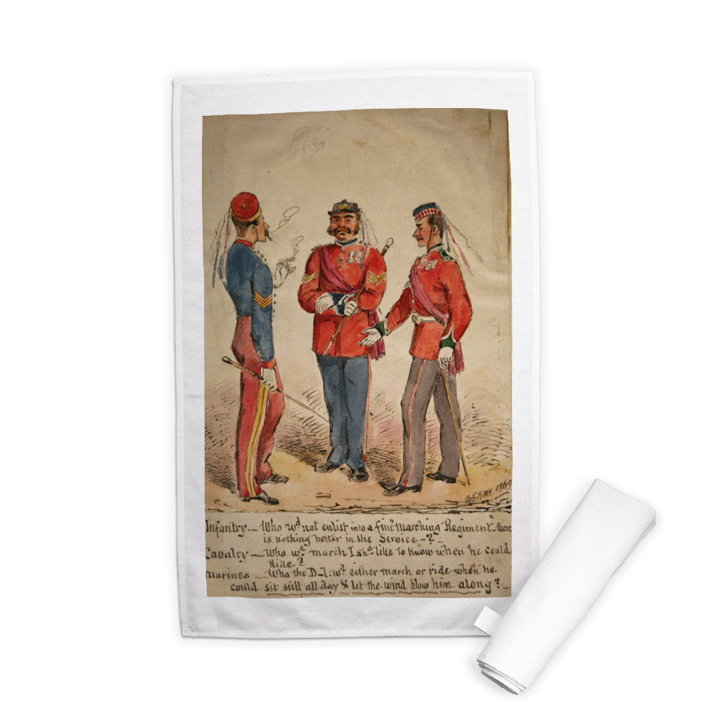 Infantry, Cavalry and Marines Discussion 1869 Tea Towel