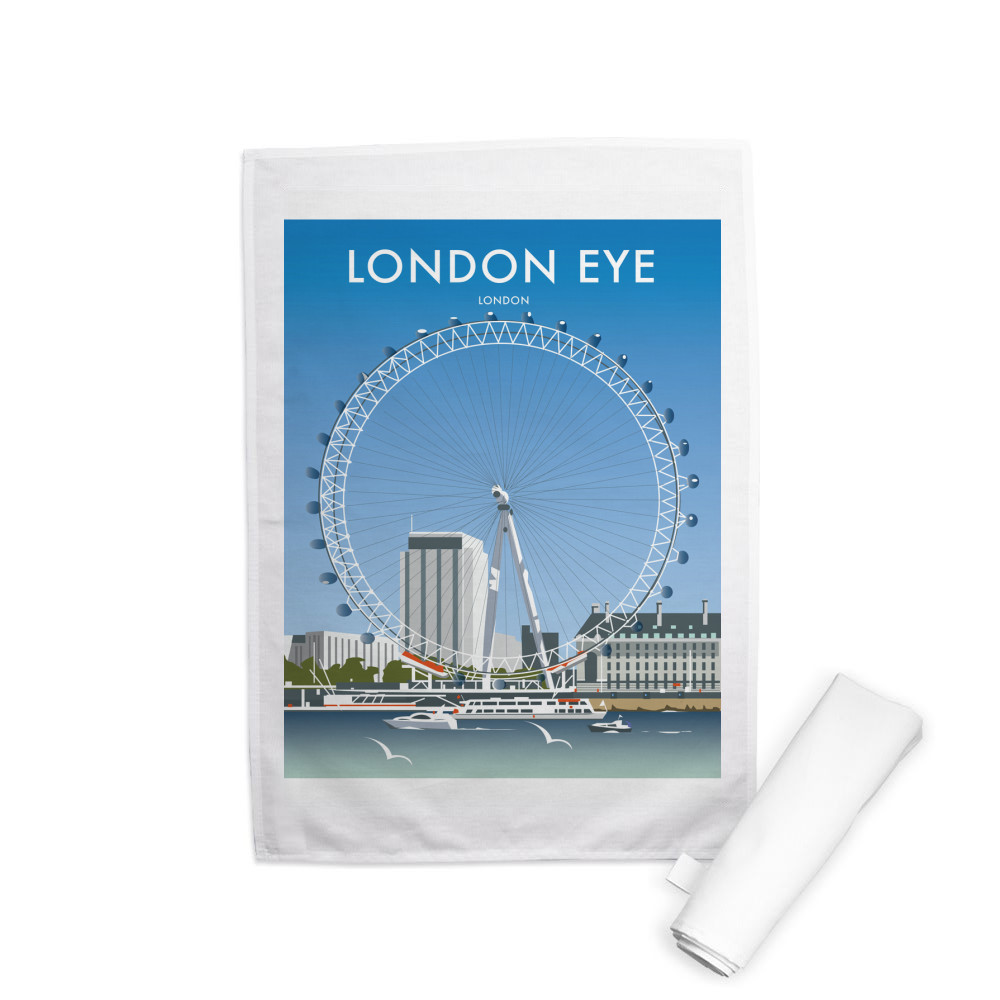 London Eye Tea Towel