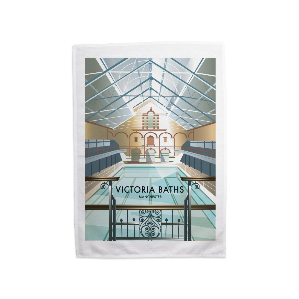 Victoria Baths, Manchester Tea Towel