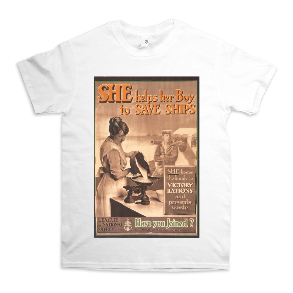 She Helps Her Boy to Save Ships TShirt