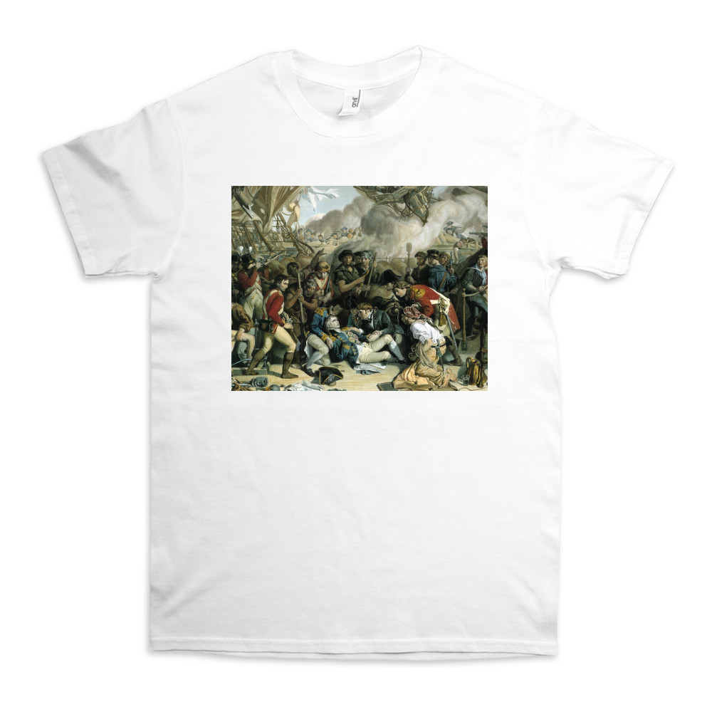 The Death of Nelson, Detail of the Lower Deck of the Victory, 1863-65 TShirt