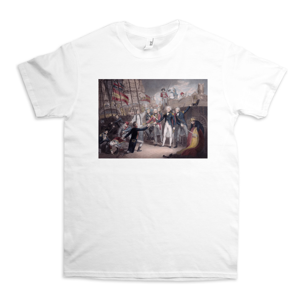 Admiral Nelson Receiving the Spanish Admiral's Sword, Battle of St. Vincent TShirt