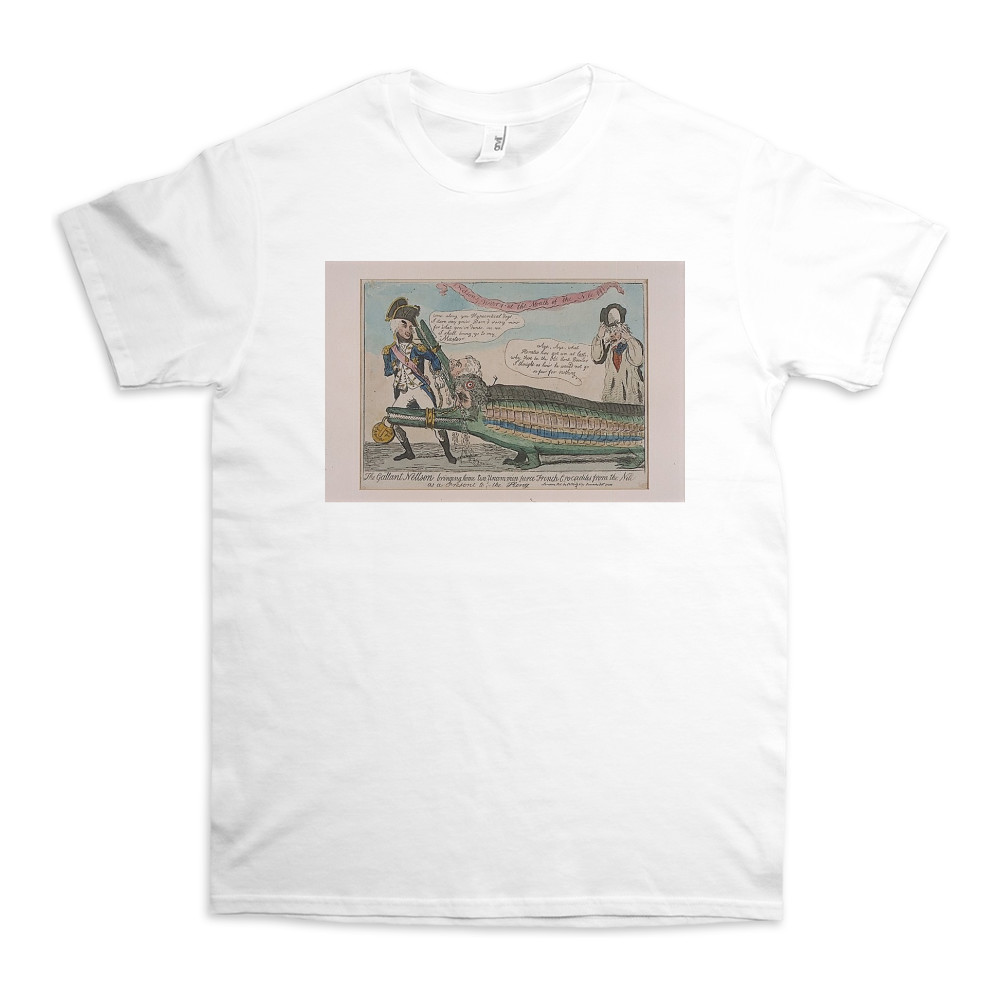 The Gallant Nelson Bringing Home Two Uncommon Fierce French Crocodiles from the Nile as a Present to the King TShirt