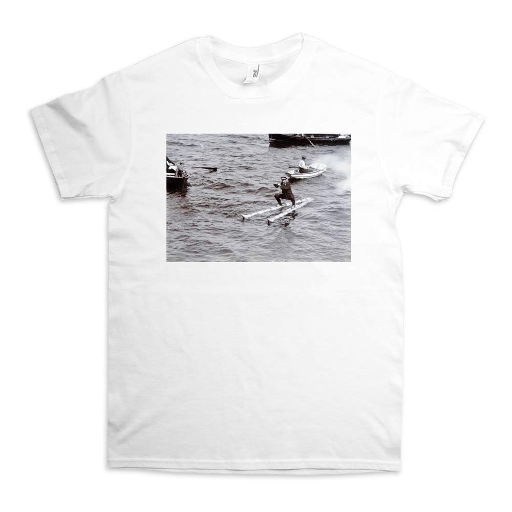 Norwegian Naval Officer Waterskiing, 1908 TShirt