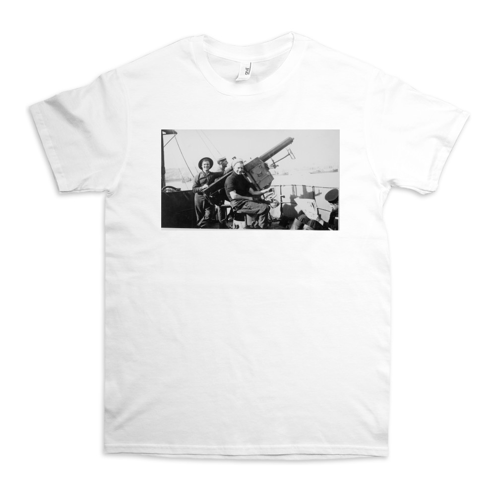 Single 2pdr Pom-pom AA Gun on HMS Brilliant TShirt