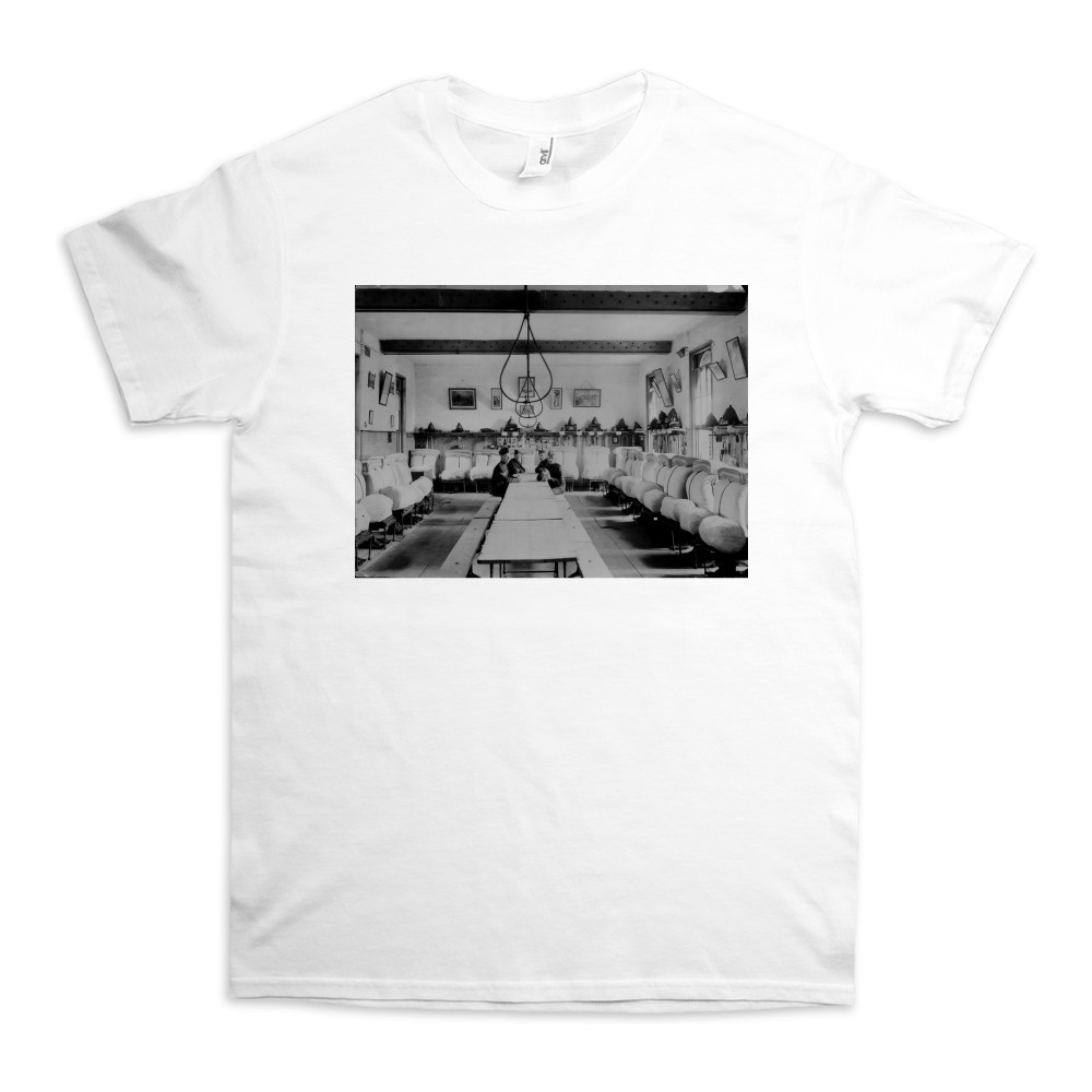 Mens' Barrack Room at the Royal Marine Artillery Barracks, Eastney,.. TShirt