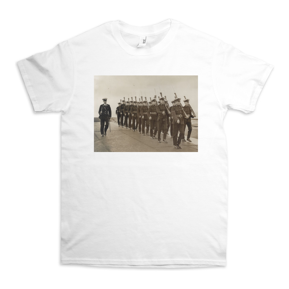 Royal Marine Guard on the flight deck of the aircraft carrier HMS Furious,.. TShirt