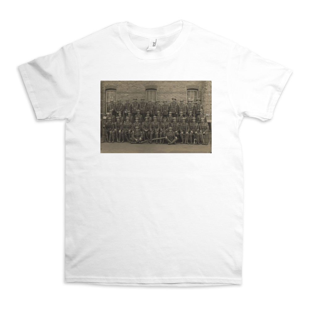 No.12 Platoon, 4th Royal Marines Battalion probably at the Depot Royal.. TShirt