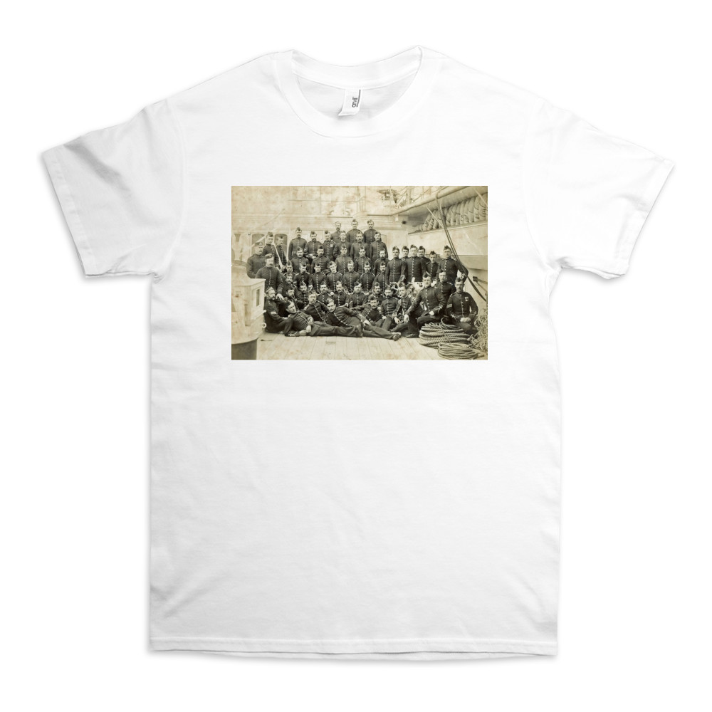 Royal Marine Detachment aboard an unidentified warship, c1880. TShirt