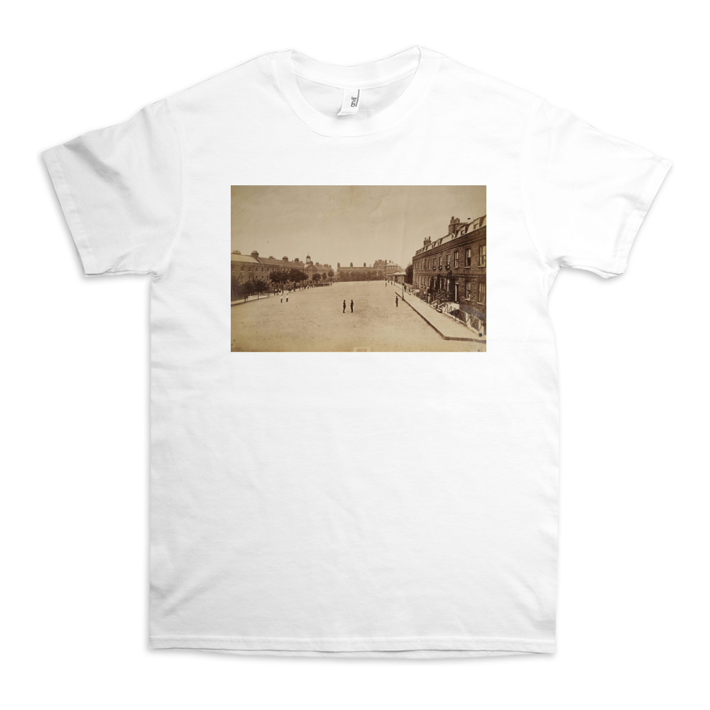 The Royal Marine Barracks at Chatham, Kent, late nineteenth century. TShirt